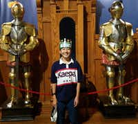 <p>Keita Sunaga, 13, visits Medieval Times while on a 4-week exchange program. Photo courtesy of AgriLife Extension.  <br><br></p>