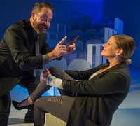 Lydia Mackay and Max Hartman in <i>Revolt. She Said. Revolt Again.</i>, presented by Second Thought Theatre at Bryant Hall on the Kalita Humphreys campus(Robert W. Hart/Special Contributor)