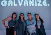 Jenny Ledel, Christie Vela, Lydia Mackay and Tia Laulusa perform in Second Thought Theatre's <i>€œRevolt. She Said. Revolt Again.</i>(Robert W. Hart/Special Contributor)
