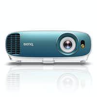 The Benq TK800 4K HDR projector has a signature blue front bezel.(Benq)
