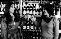 Sisters Martha Zelzer and Carol Zelzer toast their store High Sobriety, which sells only nonalcoholic beverages.(Pam Berry/Special to The News)