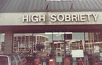 The outside of High Sobriety. The store was at 7726 Forest Lane in Dallas(Courtesy of Martha Zelzer)