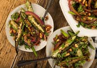 Warm Okra and Red Onion Salad with Pine Nuts(Ryan Michalesko/Staff Photographer)