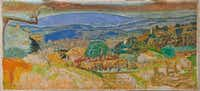 Pierre Bonnard, <i>Landscape at Le Cannet</i>, 1928, oil on canvas, 50 3/8 x 109   in. (128 x 278.2 cm). The painting has been added to the permanent collection of the Kimbell Art Museum in Fort Worth(Kimbell Art Museum)