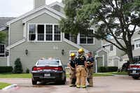 Dallas police and fire departments responded to a call at 6200 Bentwood Trail in Dallas on June 7, 2018.(Vernon Bryant/Staff Photographer)