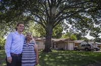 Belinda Darden  and Will Toler at Darden's Hamilton Park home. (Ryan Michalesko/Staff Photographer)