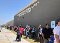 """Long lines regularly form at the Texas Department of Public Safety's driver's license """"mega center"""" in Carrollton.(File Photo/Staff)"""