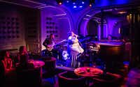 Who says you can't find a great live music venue with no cover charge on the Las Vegas Strip? At Rose. Rabbit. Lie., a jazz combo plays every night.(Michael Hiller/Special Contributor)