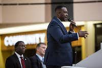 Dallas City Council member Casey Thomas speaks during a presentation about the future of the former Red Bird Mall in January 2017.(File Photo)