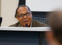 Dallas City Council member Kevin Felder spoke during a council meeting in April.(Nathan Hunsinger/Staff Photographer)
