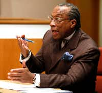 Dallas County Commissioner John Wiley Price took part in a discussion during a Commissioners Court meeting in January.(File Photo/Staff)