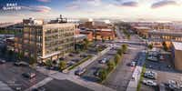 The East Quarter is an 8-block redevelopment of old commercial buildings on downtown Dallas' east side.(Todd Interests)