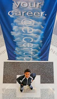 Jose Alvarez, a Grand Prairie High School graduate and current El Centro student, is pictured at the college in downtown Dallas.(Louis DeLuca/Staff Photographer)