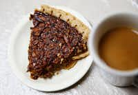To burn the 400-plus calories in this yummy piece of pecan pie, you'd have to run about 4 miles at a 10-minute-mile pace. That's if you weigh 150 pounds. If you weigh less, you'd have to run more. Or just have a really thin sliver of pie and call it a day.(Vernon Bryant/Staff Photographer)