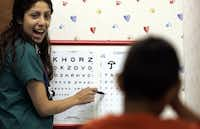 An eye exam tells much more than whether you can read the RKCSZHVD line without help.(Irwin Thompson/Staff Photographer)