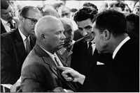Nikita Khrushchev and Richard Nixon in Moscow(Elliott Erwitt/Magnum Photos)