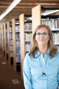 Sarah Bird at the Austin Central Library.(Julia Robinson/Special Contributor)