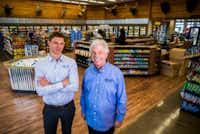 Fuel City owners Joseph Bickham (left) and John Benda in Haltom City.(Ashley Landis/Staff Photographer)