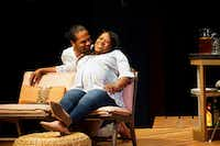 Djore Nance and Stormi Demerson in Regina Taylor's <i>Bread</i> by WaterTower Theatre at Addison Theatre Centre(Lawrence Jenkins/Special Contributor)