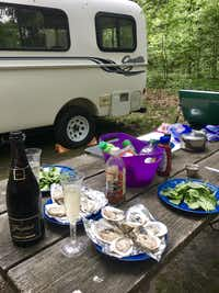 "<p>We enjoyed a seafood cookout alongside our Casita camper at <span style=""font-size: 1em; background-color: transparent;"">Cheesequake State Park in New Jersey, just south of Staten Island, N.Y.</span></p>(Keven Ann Willey/Special Contributor)"