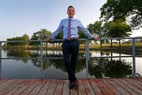 Michael Kowski , standing at Towne Lake Recreation Area, is director of parks and recreation in McKinney(Jae S. Lee/Staff Photographer)