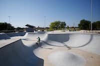Frisco's first skate park opened in August 2017.(Anja Schlein/Special Contributor)