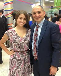 Haley Howe, left, grew up as in a military family with her her father, Miguel Howe, who is a retired Army colonel.(via Miguel Howe)
