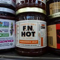 The F.N. Hot line, which includes habanero jelly, is made by Cappy McGarr, who lives in the neighborhood around the new Midway-Northwest Highway store. (Kim Pierce/Special Contributor)