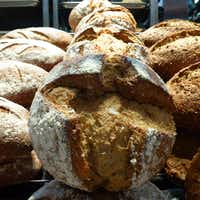 New at Central Market's Midway and Northwest Highway store, the dense, moist einkorn-and-lupin sourdough bread is made from heritage einkorn wheat. It will eventually be at all stores. (Kim Pierce/Special Contributor)