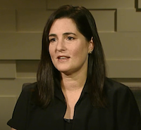 <p>Mandy Ginsberg in an October 2017 appearance on KERA.</p>