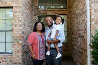 Nicole Sterling, Jamal Gibran Sterling and their daughter India Sterling, then age 4, at their home in Plano in 2014.(Anja Schlein/Special Contributor)