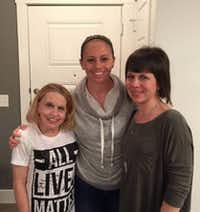 <br>(Facebook/Amber Guyger (middle) pictured with Alana Guyger (right) and their mother (right))