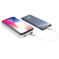 The myCharge UnPlugged 10K can charge three devices at once.(myCharge)