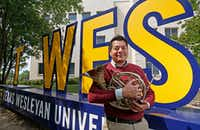 Luis Calderon graduated from Texas Wesleyan University this year after only three years. But he didn't count toward the school's graduation rate because he started at the Fort Worth campus with college credits earned in high school. (Jae S. Lee/Staff Photographer)