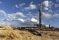 A Colgate Energy LLC oil drilling rig in Reeves County.(Callaghan O'Hare/Bloomberg)