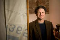 In this 2012 file photo, author Dave Eggers is seen in his San Francisco office. Eggers' <i>The Circle</i>&nbsp;was chosen as the 2018 book for Richardson Reads One Book.(File Photo/The New York Times)