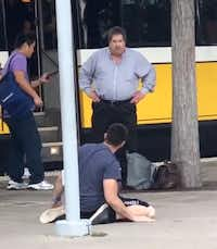 "<p><span style=""font-size: 1em; background-color: transparent;"">Marcos Pelaez, 24, said he heard about eight gunshots when he got off the train and turned to see a man with a gun and the victim falling over.</span></p>(Courtesy/Marcos Pelaez)"
