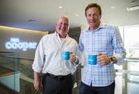 The two leaders behind Nationstar Mortgage's name change to Mr. Cooper are CEO Jay Bray (left) and chief marketing officer Kevin Dahlstrom. This photo is from 2016, when they announced their plans for the name change, which took effect last year.(2016 File Photo/Ashley Landis)