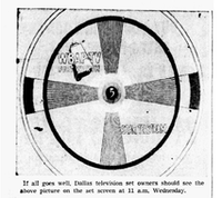 1948: An image of what to expect during initial tests of television in DFW.(The Dallas Morning News)