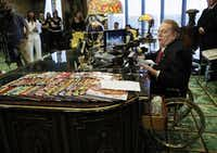 <p><i>Hustler </i>magazine magnate Larry Flynt spoke at a news conference in July 2007 in Beverly Hills, Calif. He's scheduled to make an appearance at Saturday's grand opening in Lake Highlands of his 25th Hustler Hollywood store.</p>(The Associated Press/File Photo)