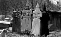 Members of the Klan outside Charleston, W.Va. in 1983.(Bill Tiernan/The Charleston Gazette)