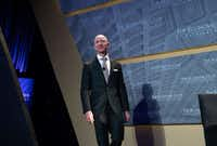 """<p><span style=""""font-size: 1em; background-color: transparent;"""">Jeff Bezos, founder and CEO of Amazon, gave no clues Thursday on where he will locate his company's second headquarters. Dallas is among the contenders. (Photo by SAUL LOEB / AFP)SAUL LOEB/AFP/Getty Images)</span></p>(SAUL LOEB/AFP/Getty Images)"""
