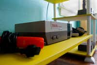 A Nintendo NES game system in The McFly. (Brian Elledge/Staff photographer)