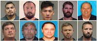Top row, from left: Stephen Clark, Tei Kue, Vy Ma, Christopher Sempe, James Maraia. Bottom row, from left: David Jones, Joel Atmore, Kirby Gowland, Robert Kessler, Nicholas Srader.(Collin County Sheriff's Office)
