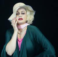 Janelle Lutz as Carole Lombard in <i>The Cuban and the Redhead</i>, a new musical presented by Pegasus Theatre at the Eisemann Center in Richardson.(Pegasus Theatre)