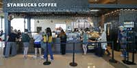 Starbucks Coffee is among the current offerings for food and beverages at Dallas Love Field.(Jae S. Lee/Staff Photographer)