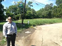 Ben Leal, CEO of Jubilee Park, stands in the donated Fleetwood lot Monday afternoon.(Robert Wilonsky/Staff)