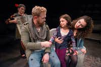 Kelly Winstead Miyake (left), Ian Ferguson, Dotty Rico and Cora Grace Winstead in <i>Once&nbsp; </i>at Theatre Three.(Robert W. Hart/Special Contributor)