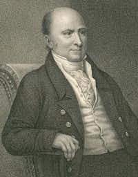 This circa 1824 engraving by Francis Kearney released by the Massachusetts Historical Society shows John Quincy Adams, the sixth president of the United States, from 1824 to 1829. (The Associated Press)