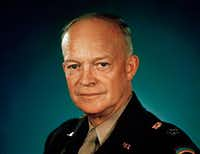 This 1945 file photo shows Gen. Dwight D. Eisenhower in uniform. The 34th president of the United States was in office from 1953 to 1961. (The Associated Press)
